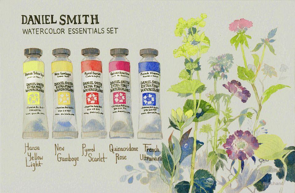 ร ว วส น ำ Daniel Smith Primatek Set และ Essentials Set พร อม