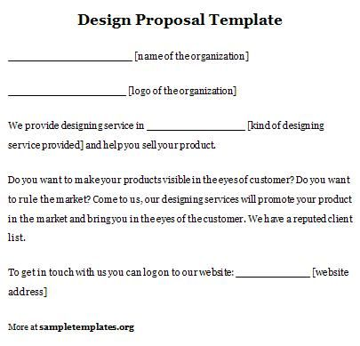 Design Proposal Template  Sample Proposals    Proposal