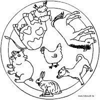 bauernhoftiere | thema bauernhof, mandalas kinder und