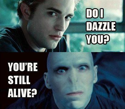 Cedric Again Or Edward Harry Potter Twilight Harry Potter Vs Twilight Twilight Jokes