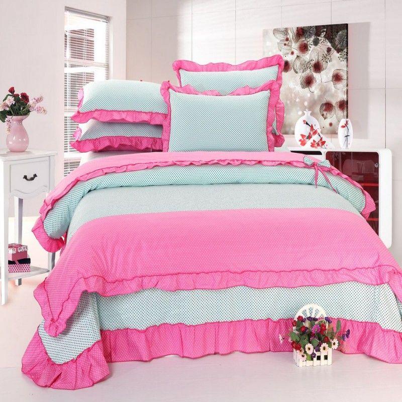 27 Bedding / cotton twill Korean family of four lotus