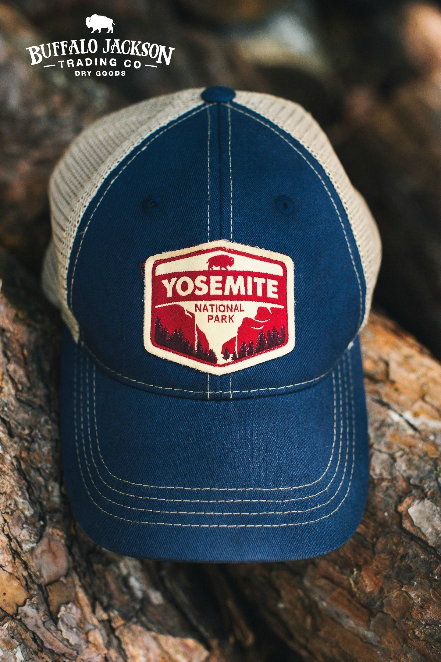 82655cf31a4 Rugged 6 panel unstructured Yosemite National Park trucker ...
