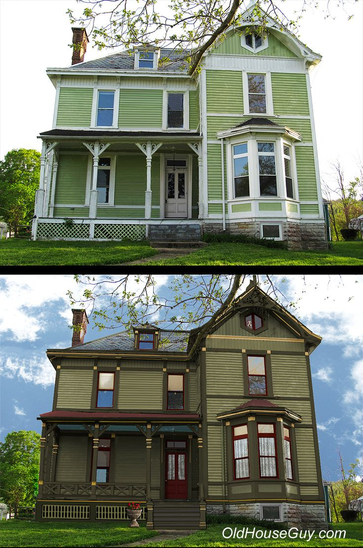 1870 Victorian Needed A Porch And Period Paint Colors This Is A Graphic Rendition For The Victorian House Colors Victorian Homes Exterior House Paint Exterior