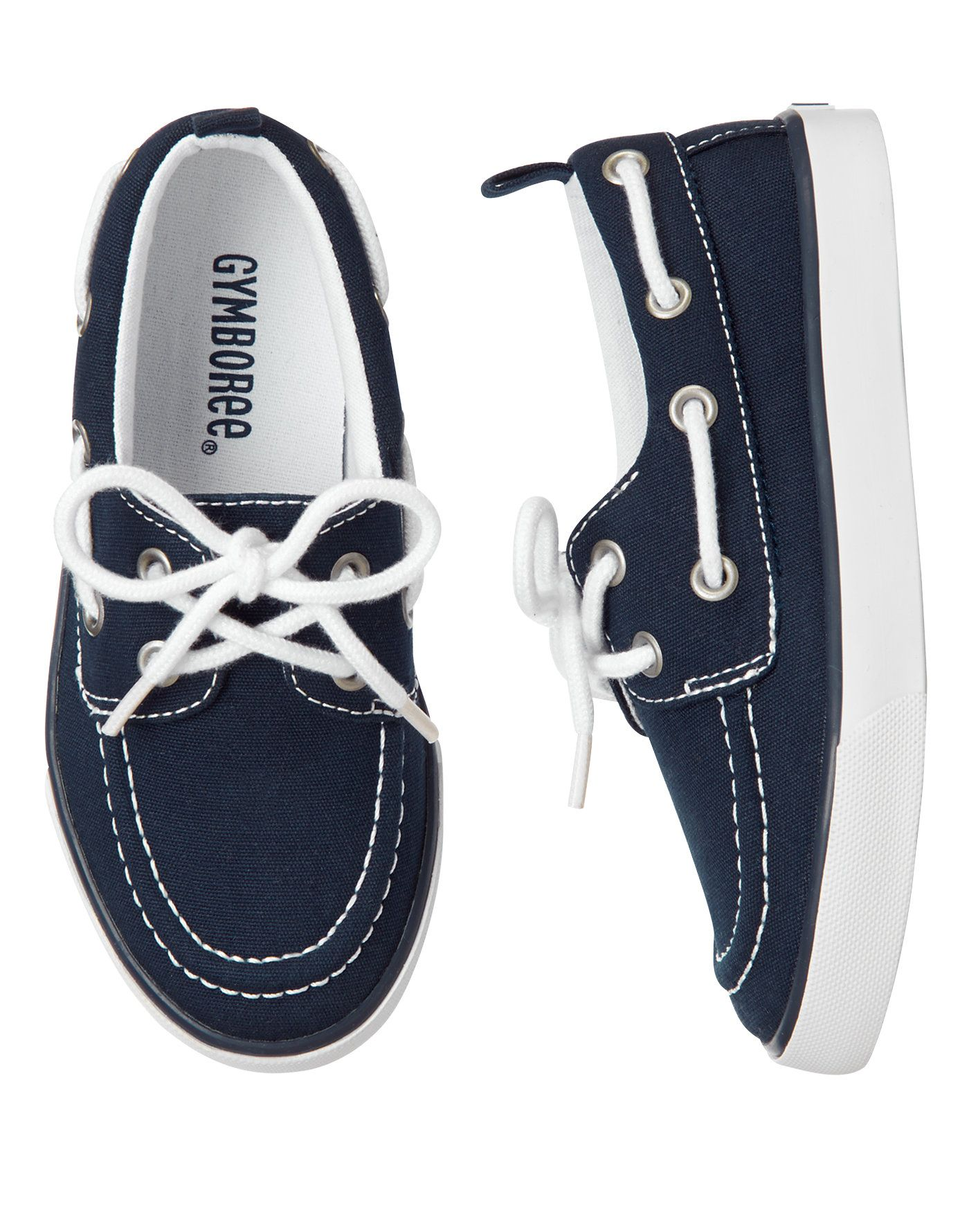 Canvas Boat Shoes at Gymboree | Boys boat shoes, White boat