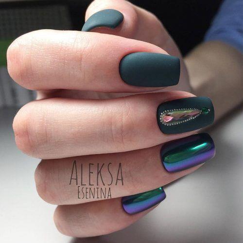 Cute Dark Green Nail Designs picture 2 - 36 Fresh Green Nails Ideas To Get This Season Pinterest Green