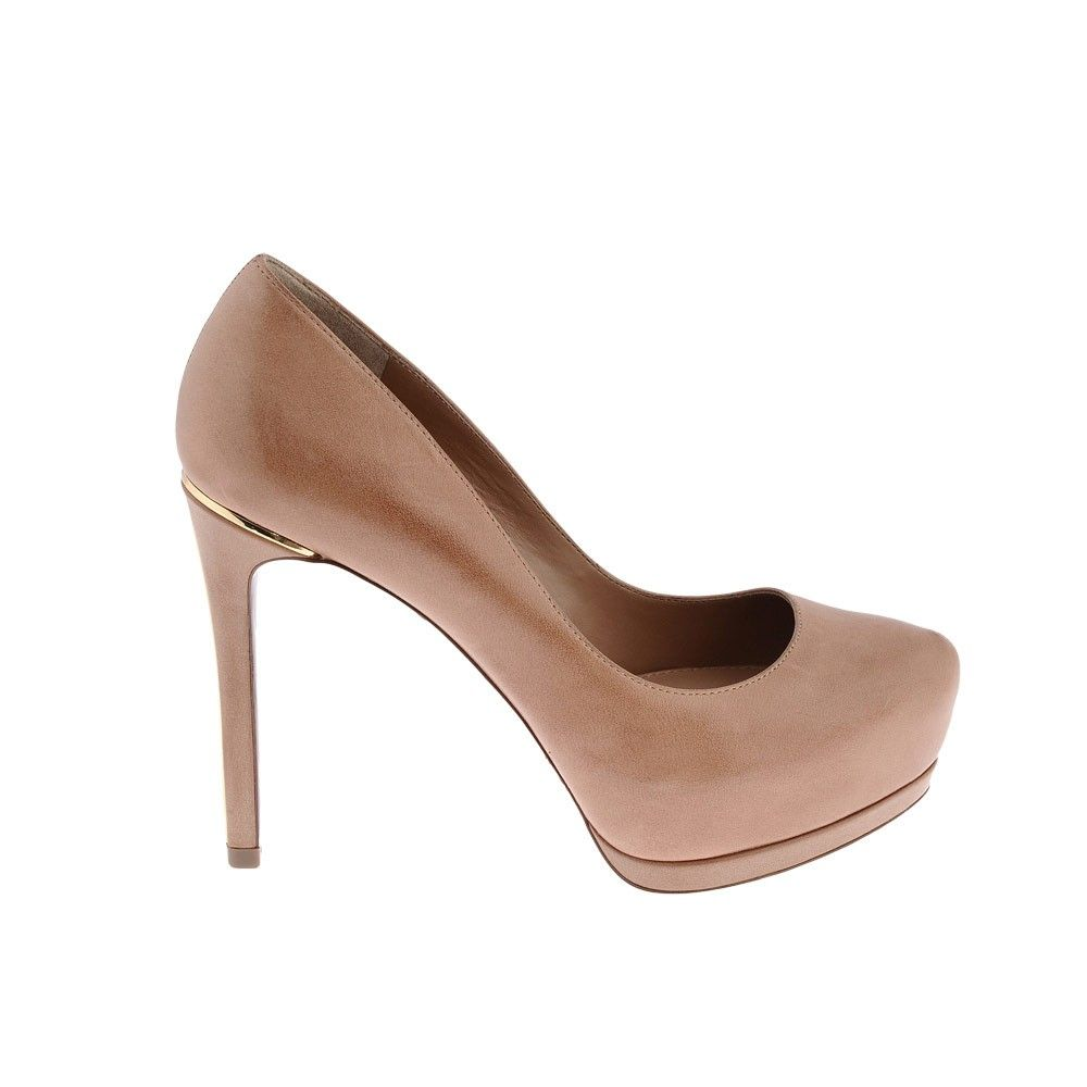 Croco Embossed Classic Pumps in Taupe from Pedro Shoes