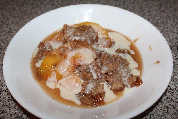 ... ! Peach Crisp With Maple Cream Sauce Recipe sunnydaystarrynight.com