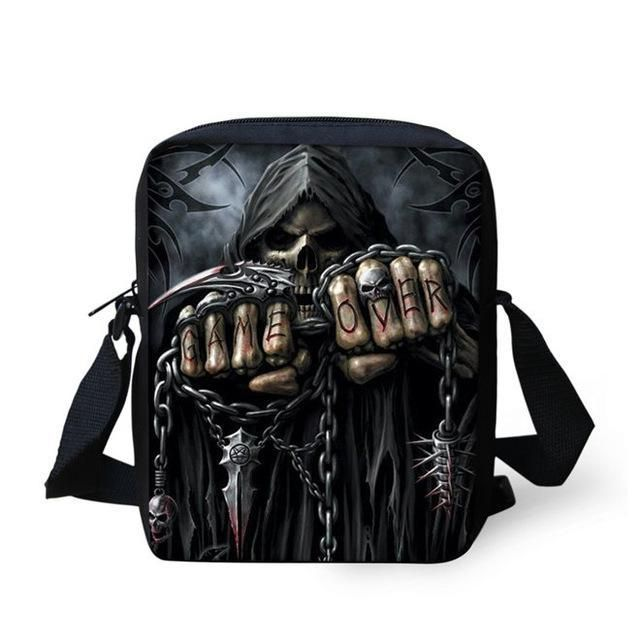WAS  45.90 - NOW  19.99 Did you check out this cool Game Over Reaper Messenger  Bag  It measures 23 x 17 x 6 cm with an adjustable shoulder strap. c79bcf3eecf9d