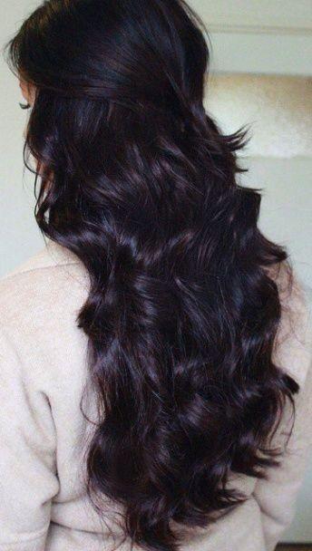 Dark Half Up Half Down Curly Hair Gorgeoushair Plum Brown Hair Hair Color Dark Hair Color For Black Hair
