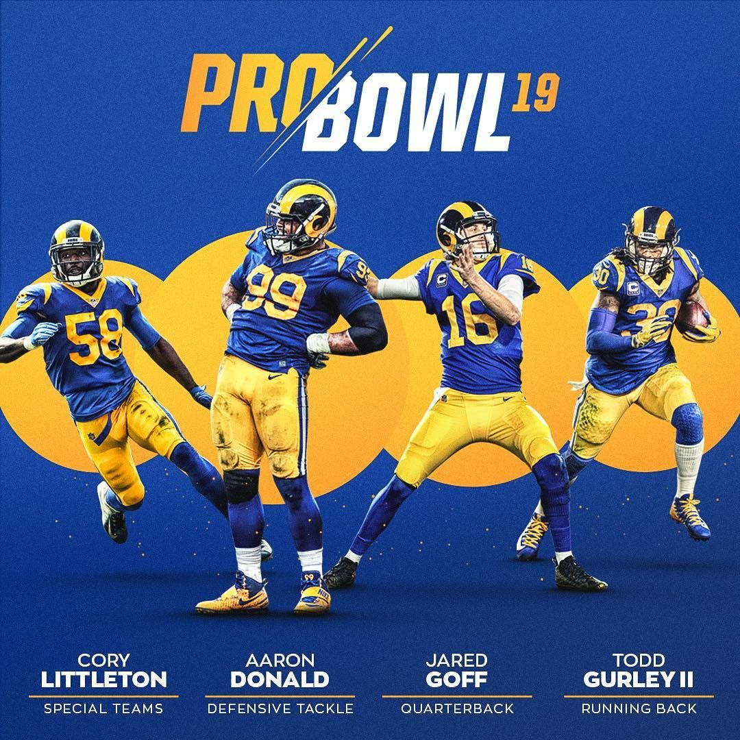 Los Angeles Rams On Instagram Pro Bowl Rams Congrats Cory4deuce Aarondonald99 Jaredgoff Tg4hunnid Los Angeles Rams La Rams Rams Football