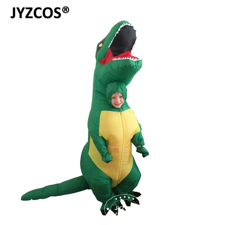 Children//Adult Inflatable T Rex Dinosaur Halloween Costume Fancy Dress Outfit