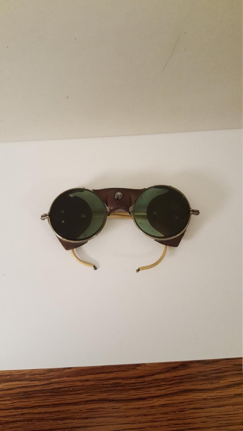 1940s safety sun glasses steampunk etsy in 2020