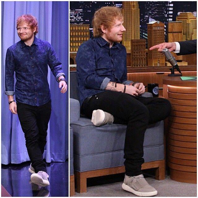 1e9258458 Ed Sheeran Rocks Adidas Yeezy Boost Sneakers on The Tonight Show With Jimmy  Fallon