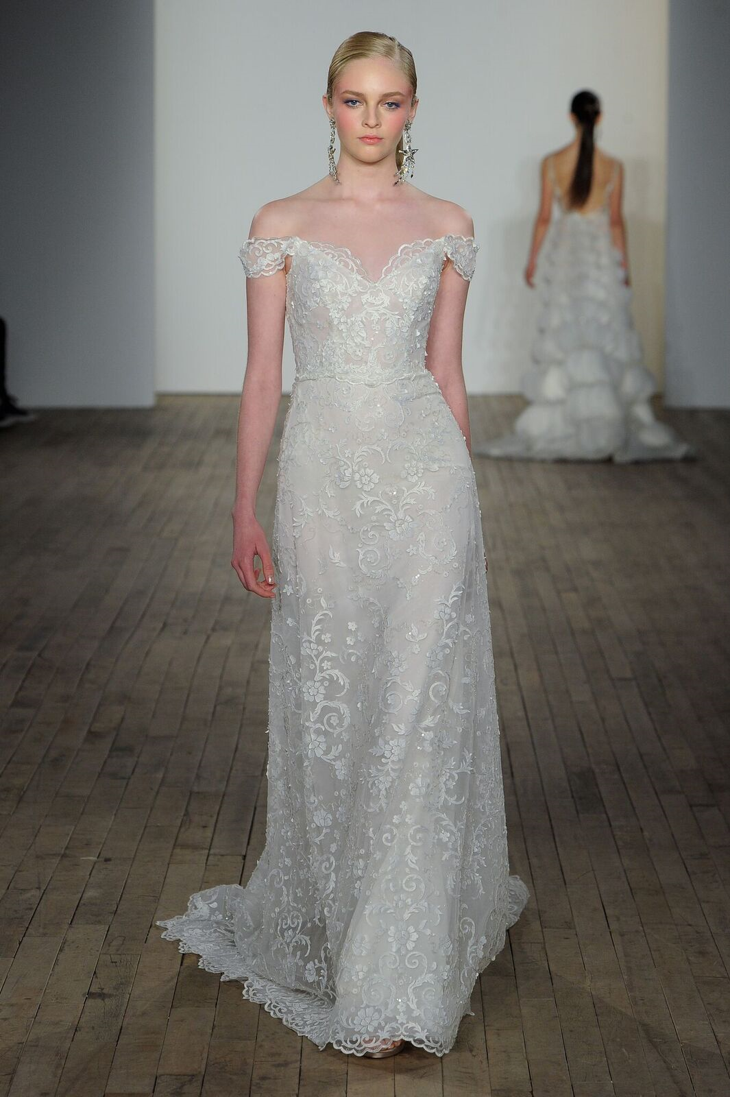 Off The Shoulder Wedding Dresses Lazaro Style 3906 Bea: Simple White Wedding Dress Bea At Websimilar.org