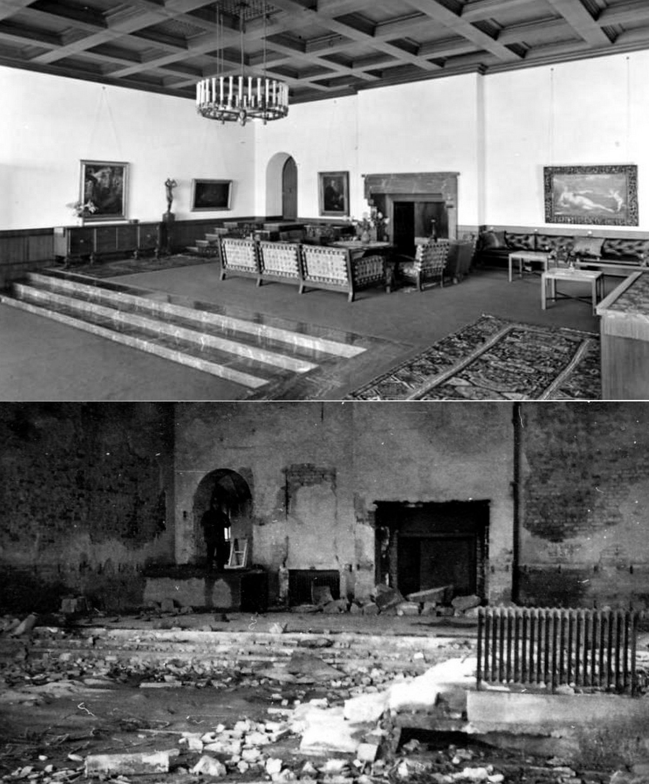 how the great hall of the berghof obersalzberg looked before the