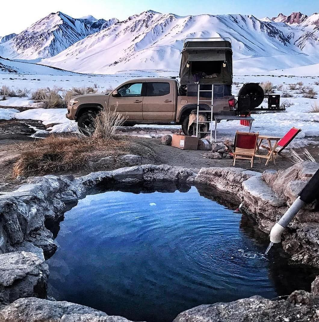 Sometimes The Best Camping Spot Is The Most Unexpected Amazing Shot Of The Snowy Mountain Background With The Sick Top Tents Roof Top Tent Camping Spots