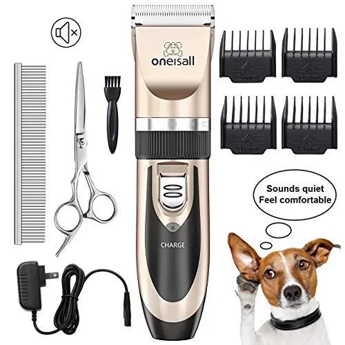 Oneisall Dog Shaver Clippers Low Noise Rechargeable Cordless Electric Dog Grooming Clippers Hair Clippers Dog Clippers