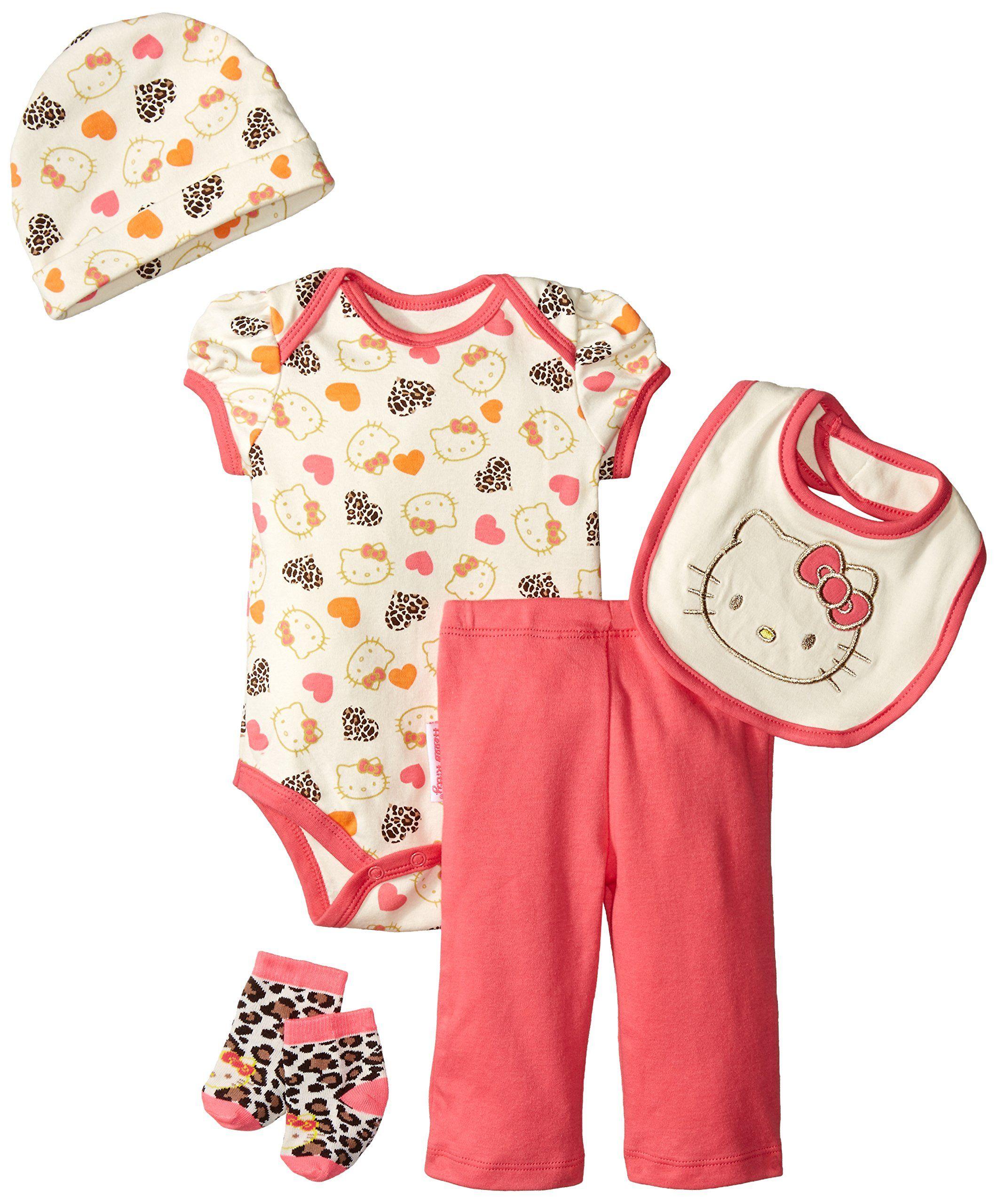2c939794bdb49 Amazon.com: Hello Kitty Baby-Girls Newborn 5 Piece Hearts Set, Dark ...
