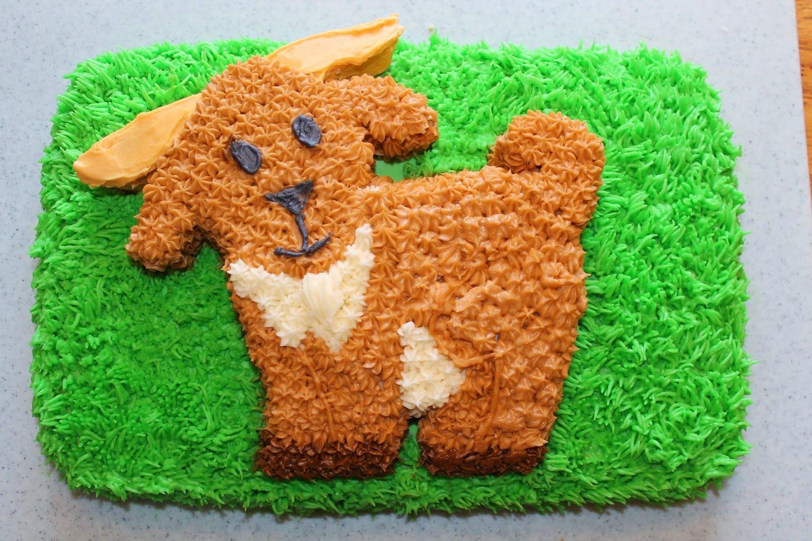 Goat Birthday Cake Cartoon cakepins.com