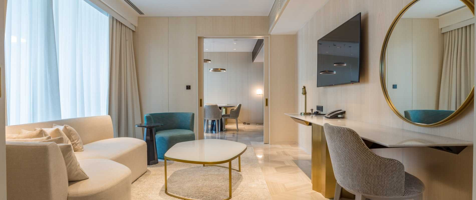 Fully Furnished One Bedroom Hotel Apartment In The Five Palm Jumeirah Dubai Luxurypr Furnished Apartments For Rent Furnished Apartment One Bedroom Apartment