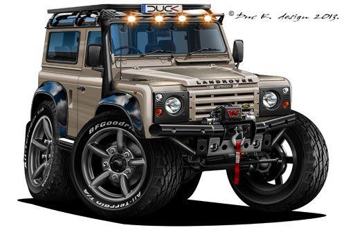 Land Rover Defender Cartoon Cars Pinterest Land Rover