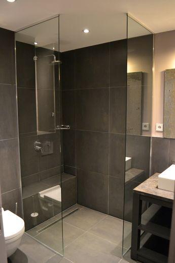 Scheidingswand - glas, 2x helft - Badkamer   Pinterest ...