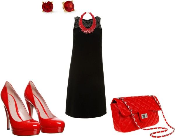 """""""NO-NO, TOO MUCH RED!!!"""" by irenabarat on Polyvore"""