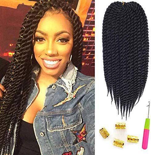 New Mirra?s Mirror 6Packs 22? Havana Twist Crochet Hair Mambo Twist Senegalese Crochet Braids Braiding Hair 100gram 12 roots/Pack (22inch, 1B) online shopping - Topusbestsellers #crotchetbraids