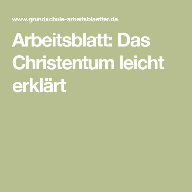 Arbeitsblatt: Das Christentum leicht erklärt | Religion | Pinterest ...