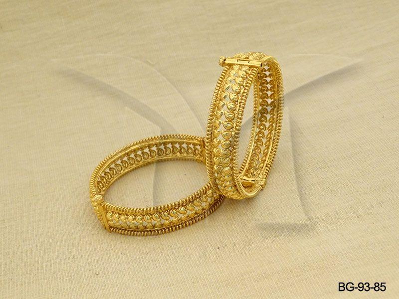 Polki Bangles Gold Koyari Design Antique Bangles Bangdi