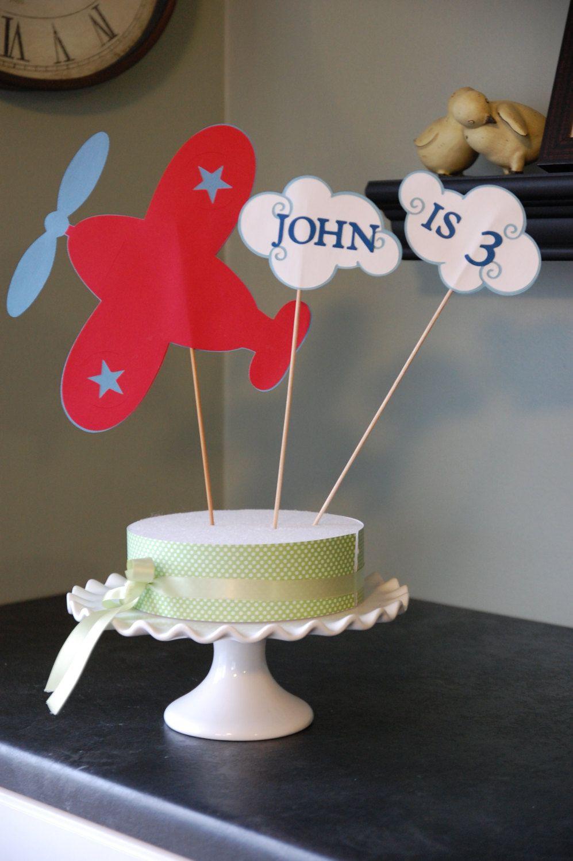 Airplane Cake Topper Airplane Smash Cake Airplane Birthday Party