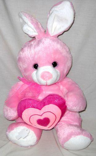 Boneka Kelinci Pink Animal Coty Heart 32 Cm Boneka Kelinci ...