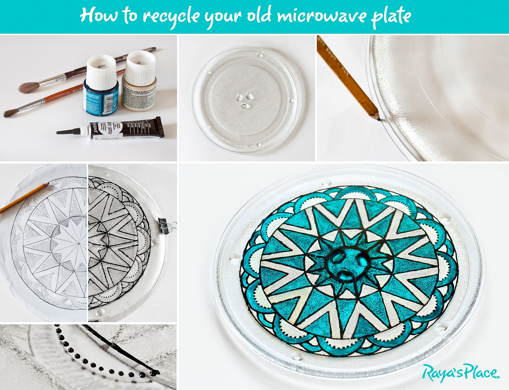 Glass Plate Cover For Microwave Turn The Old Microwave Ovens Glass Plate Into A Beautiful Serving