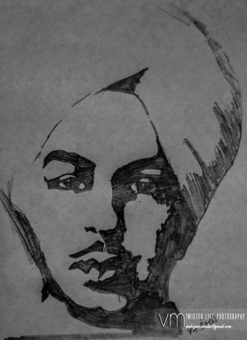 Bhagat singh ji sketching by varsha mahajan at touchtalent 20649