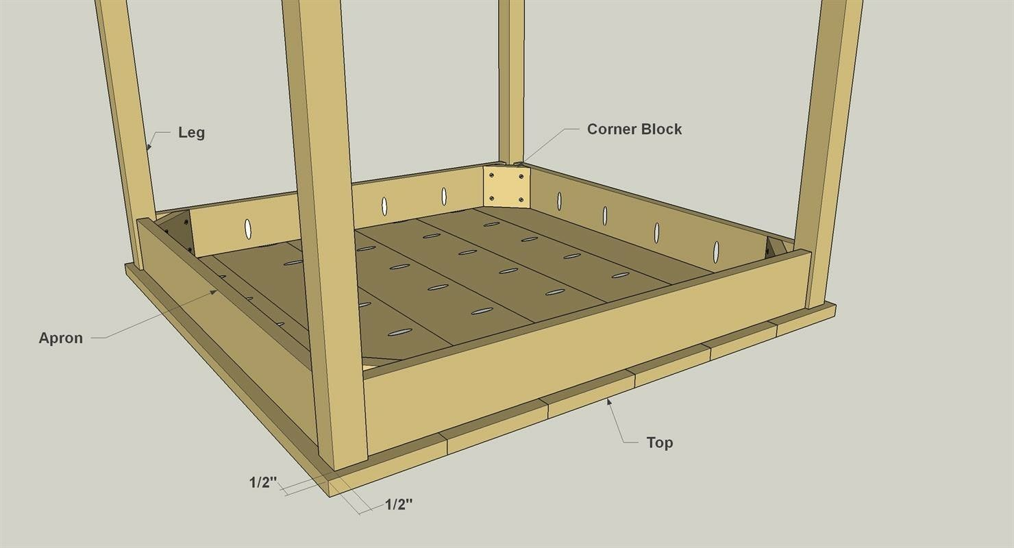 Pub Table How To Attach Wooden Table Legs To A Table Top