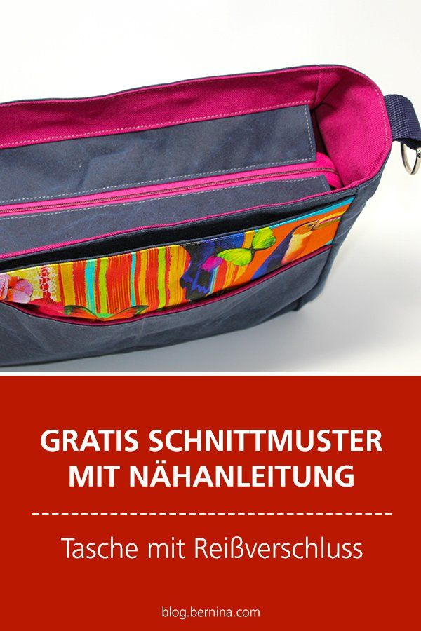 Gratis-Schnittmuster & Nähanleitung: Geräumige Tasche mit Reißverschluss #pursesandbags