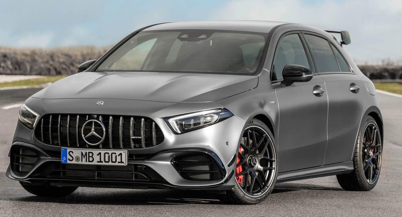 مرسيدس آي أم جي آي45 الجديدة بالكامل 2020 الهاتشباك القنبلة بقوة 421 حصان موقع ويلز Mercedes Benz Amg Mercedes Hatchback Mercedes A45 Amg