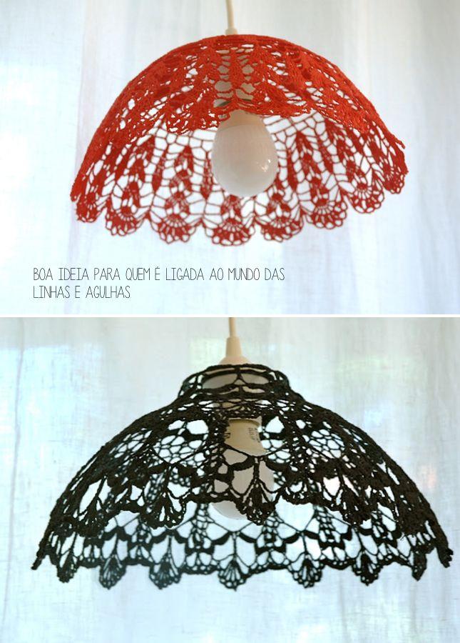 Para-artesas-habilidosas-Luminarias-de-Croche-1   Lampara crochet ...