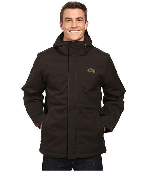 7f87a9fe8 The North Face Inlux Insulated Jacket Black Ink Green Heather ...
