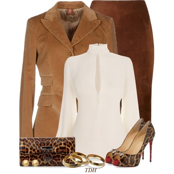 """""""Brown & Camel"""" by talvadh on Polyvore"""