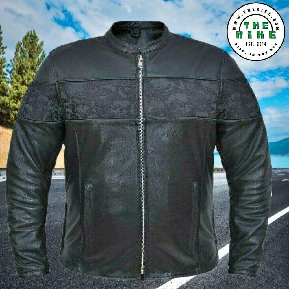 Premium Cowhide Leather Motorcycle Biker Jacket Men S Leather Jacket S 5xl Biker Jacket Men Mens Jackets Biker Jacket [ 1000 x 1000 Pixel ]