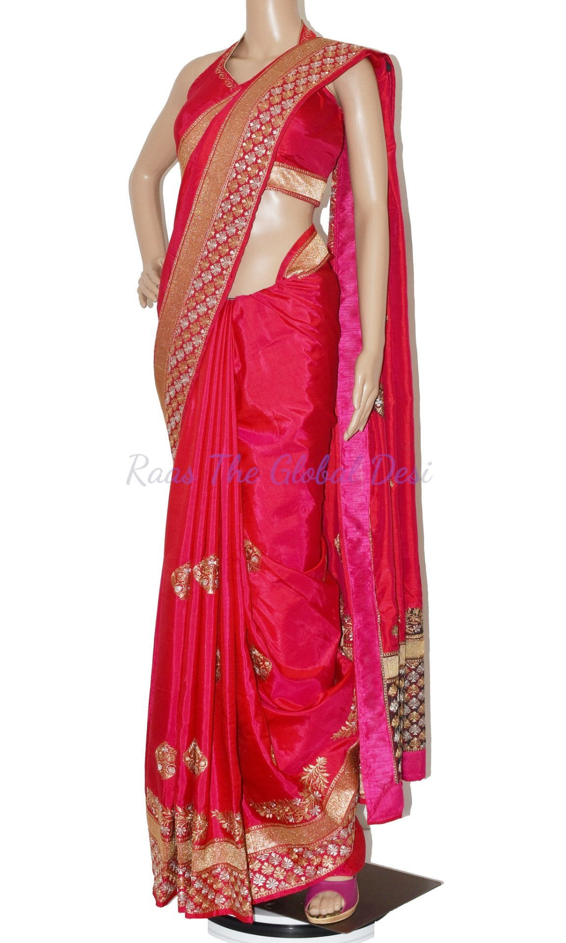 Silk woven saree with zari and designer hand work blouse makes it