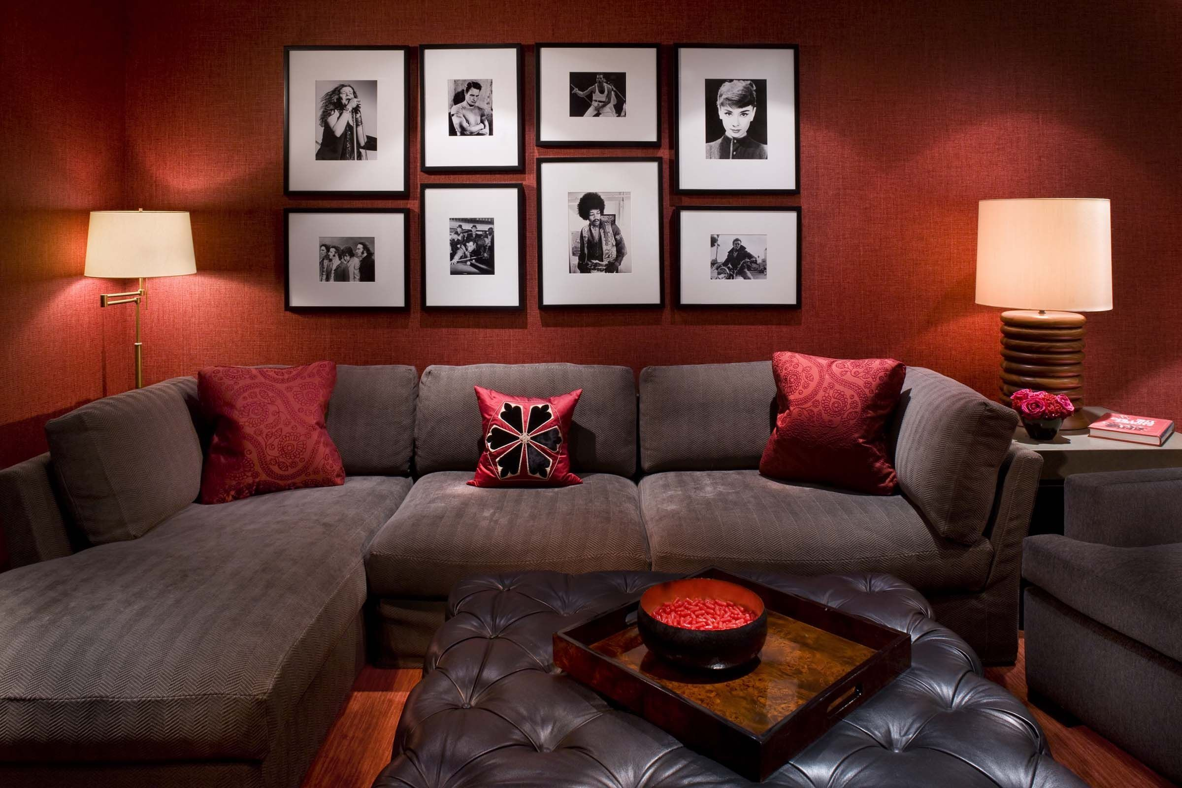 Living Room Decor Red And Brown Burgundy Living Room Red Li