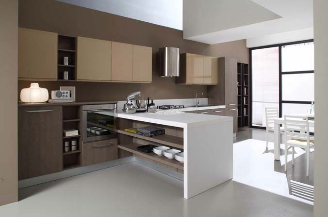 Marvelous Luxury Modern Minimalist Brown And White Kitchen Decor Part 18