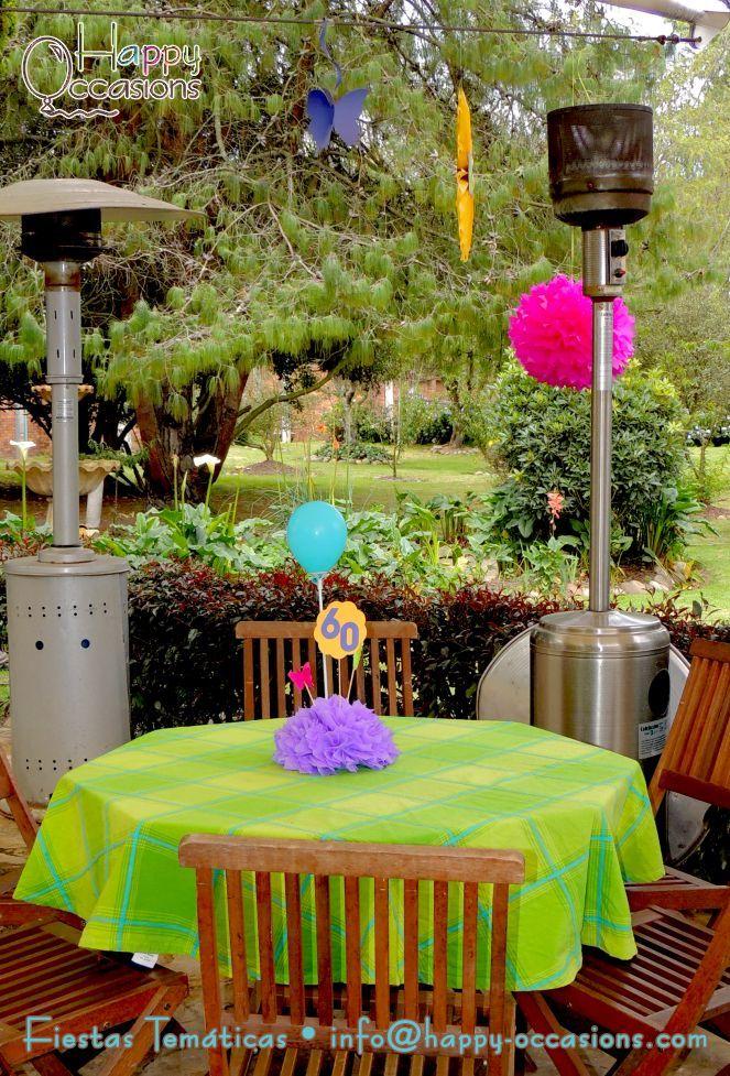 Decoraci n fiesta 60 a os mujer - Decoracion mesa cumpleanos ...