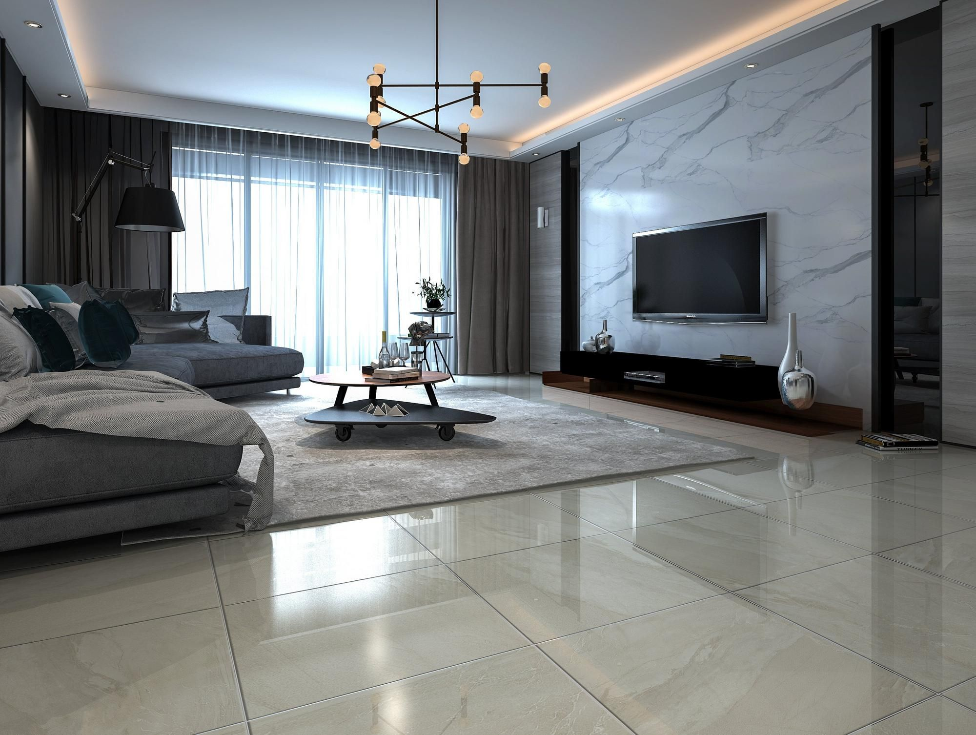 Verona Greige Porcelain Tile in 2020 | Home room design ...