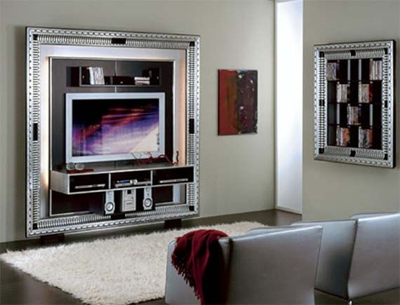 House · Luxury Tv Frame Design Home Entertainment Furniture