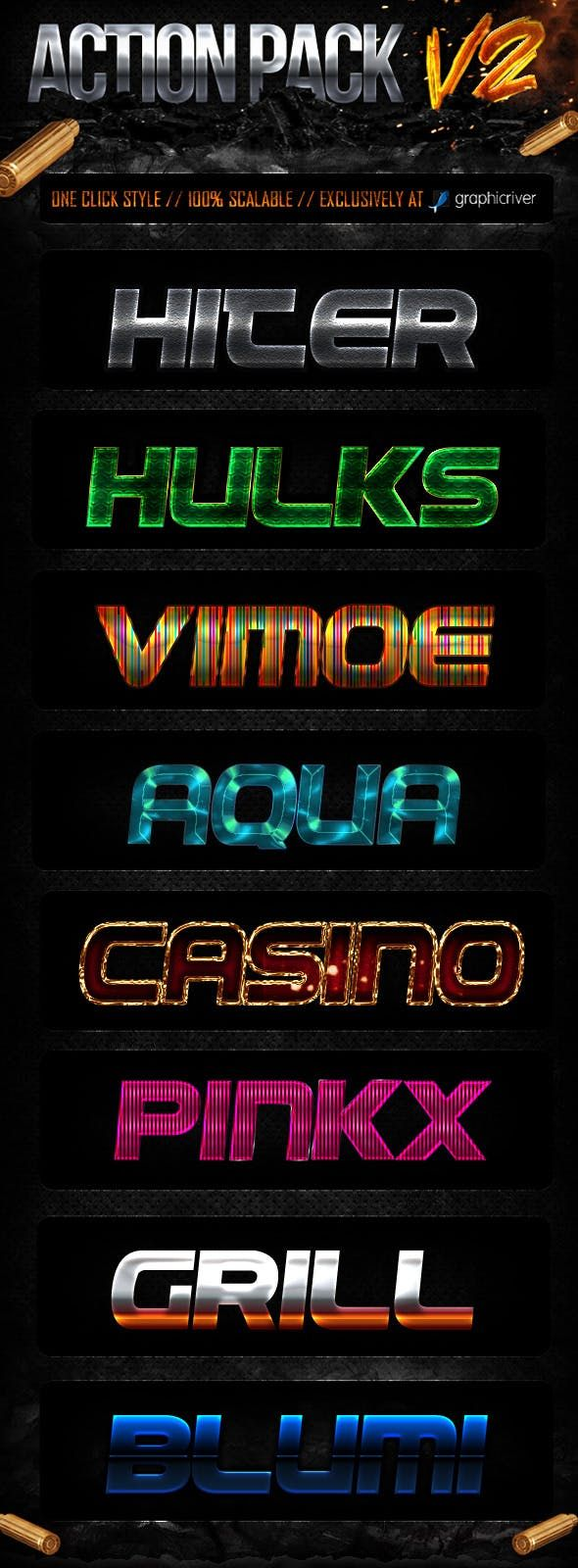 Download Action Style Pack V2 - Text Effects Styles | Photoshop ...
