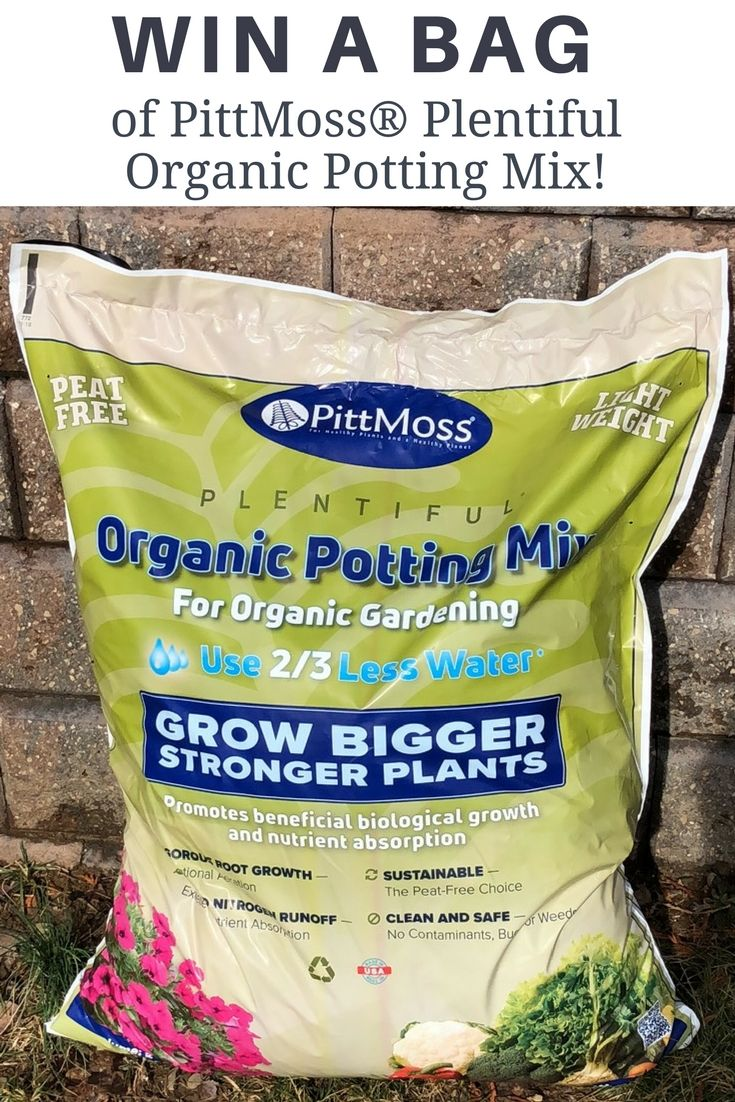 GIVEAWAY! This weekend (3/9-3/11/18) we are giving away five 1 cu. ft bags of PittMoss® Plentiful Organic Potting Mix! Made from organic, recycled natural materials, this product can be used as a potting mix or as a planting mix in the garden. It helps retain moisture (you can water up to 2/3 less with PittMoss®), aerates exceptionally well and is nutrient rich, which results in faster and stronger plant development!    Enter at facebook.com/gardeningknowhow. Giveaway ends 3/11/18.