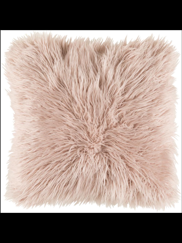 Dekla Faux Fur Pillow Blush Blush Pillows Blush Throw Pillow